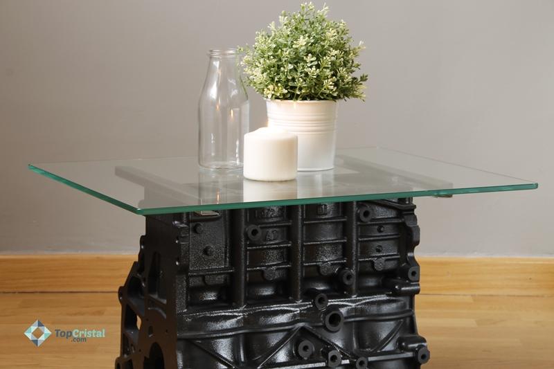 Cristal para mesa de motor reciclado